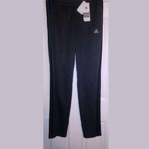 Adidas Womens T10 Pants Grey/Black Stripe Size M